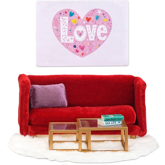 LUNDBY Accessories Småland Living Room Set Red