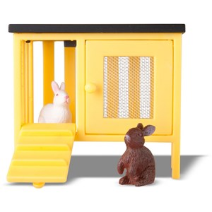Image of LUNDBY Dolls Two Rabbits and Hutch Set 3 - 10 years (955578)