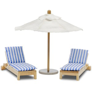 Image of LUNDBY Accessories Stockholm Sun Bed and Parasol Set 3+ years (955590)