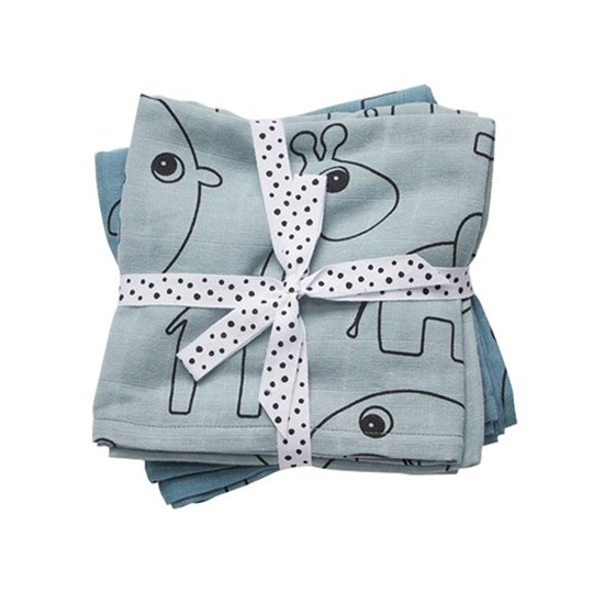 Done by Deer Swaddle 2-pack Contour Blue Blue