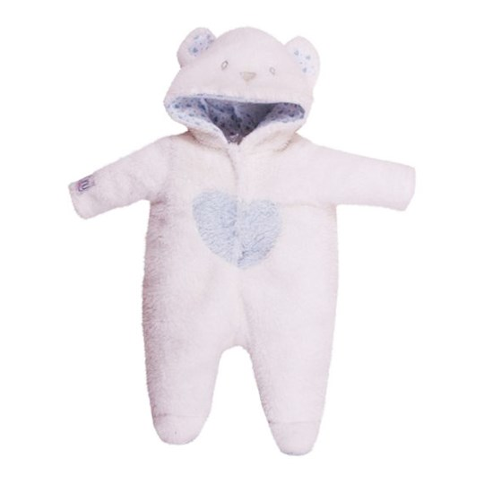 Tiny Treasure Doll Cozy Teddy Outfit White