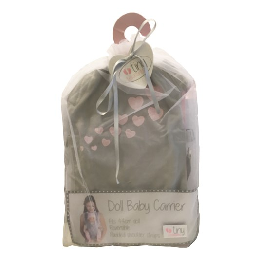 Tiny Treasure Doll Baby Doll Carrier Black
