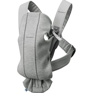 Image of Babybjörn Baby Carrier Mini Light Grey/3D Jersey One Size (1234239)