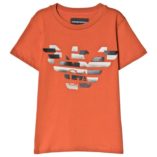 Emporio Armani Orange Eagle Logo Tee 0216