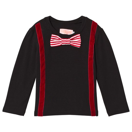 Wauw Capow Woody Black and Red T-Shirt Black