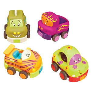 Image of B Toys Wheeee-ls! Soft Car Set 12 mdr. - 6 år (3125269635)