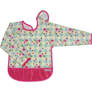 Bilde av Bambino Eat-n-play Long Sleeve Bib Summer/polka One Size