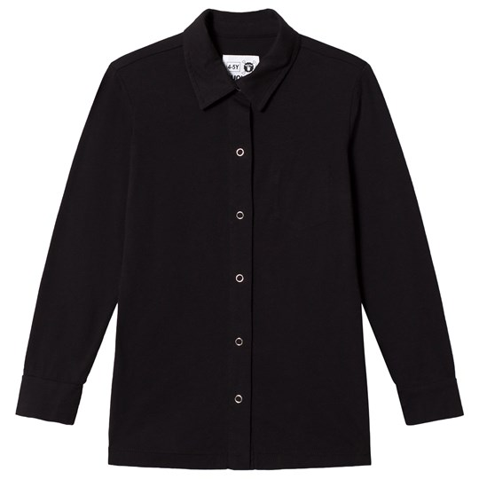 NUNUNU Button Shirt Black Black