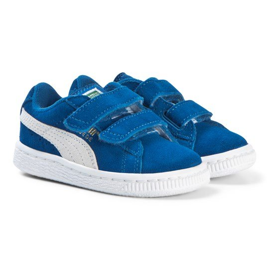 info for cea22 89650 Puma - Suede Infant Blue and White Trainers - Babyshop.com