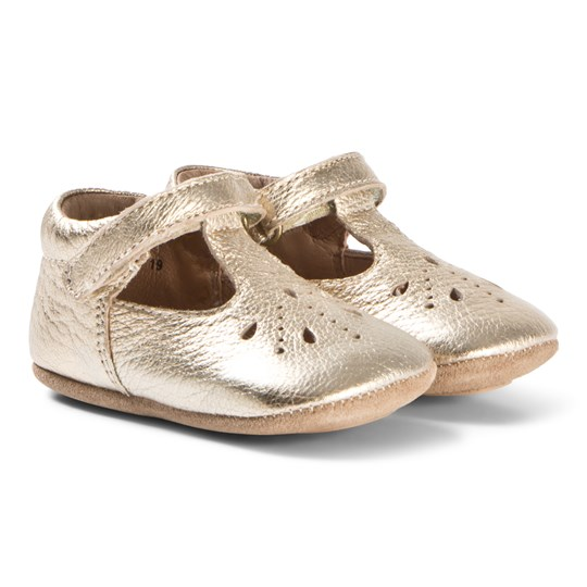 Bisgaard Home Shoes Bloom Gold Gold