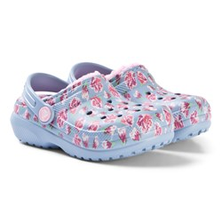 Crocs Classic Lined Graphic Clog K Chambray Blue/Carnation
