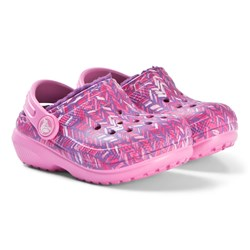 Crocs Classic Lined Graphic Clogs K Party Pink/Amethyst