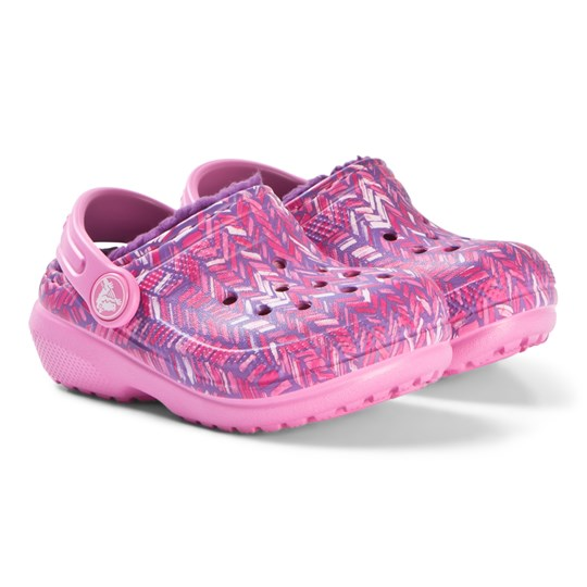 Crocs Classic Lined Graphic Clog K Party Pink/Amethyst Party Pink/Amethyst
