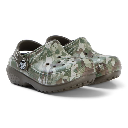 Crocs Classic Lined Graphic Clog K Dark Camo Green/Black Dark Camo Green/Black