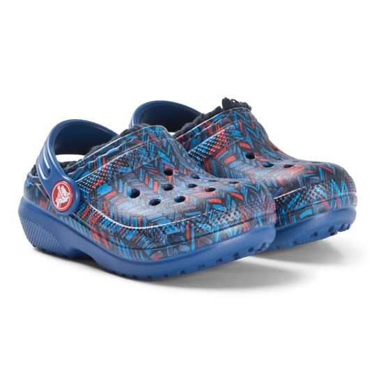 Crocs Classic Lined Graphic Clog K Blue Jean/Navy Blue Jean/Navy