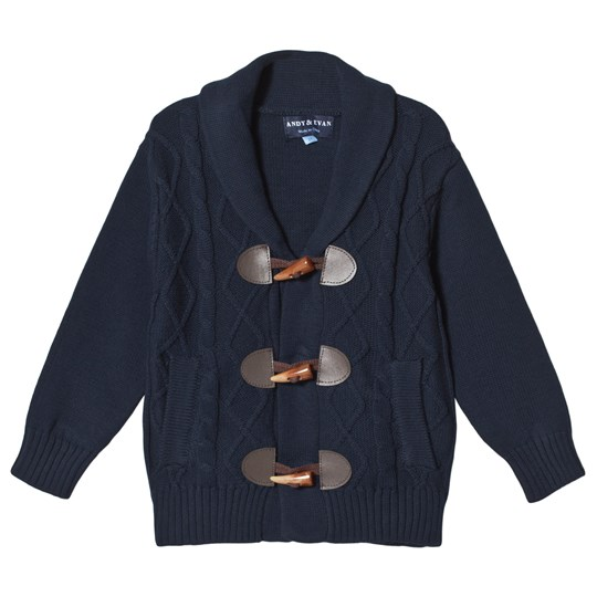 Andy & Evan Navy Cable Knit Cardigan NVD