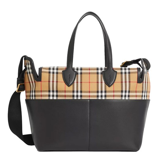 Burberry Black Kingswood and Check Changing Bag Black