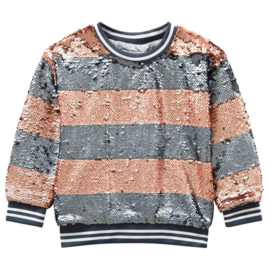Molo Mabel Sweatshirt Silver/Blush Stripe Silver Blush Stripe