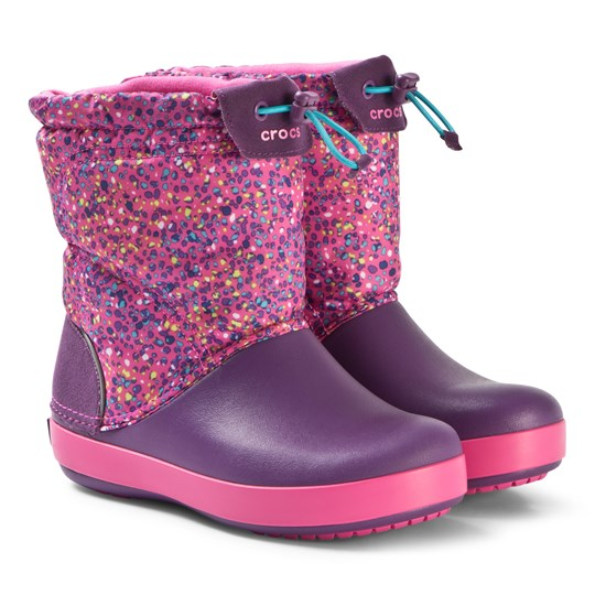 Crocs Crocband LodgePoint Boots Graphic K Neon Magenta/Amethyst Neon Magenta/Amethyst