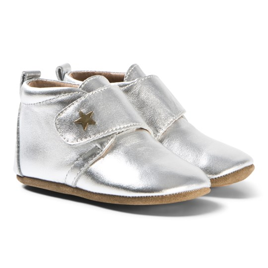 7abd807bce4 Bisgaard - Velcro Home Shoes Star Silver - Babyshop.com