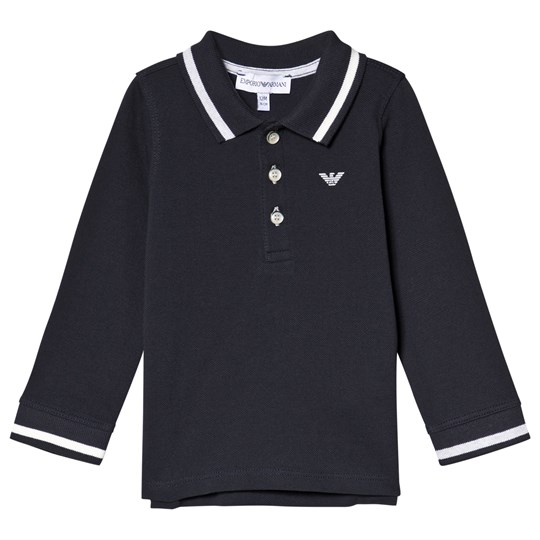Emporio Armani Navy Logo Long Sleeve Polo 0922