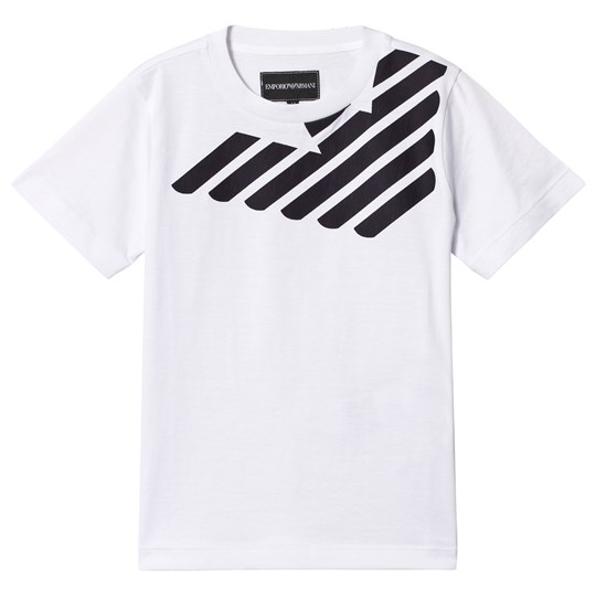 Emporio Armani White and Navy Eagle Logo Tee 0100