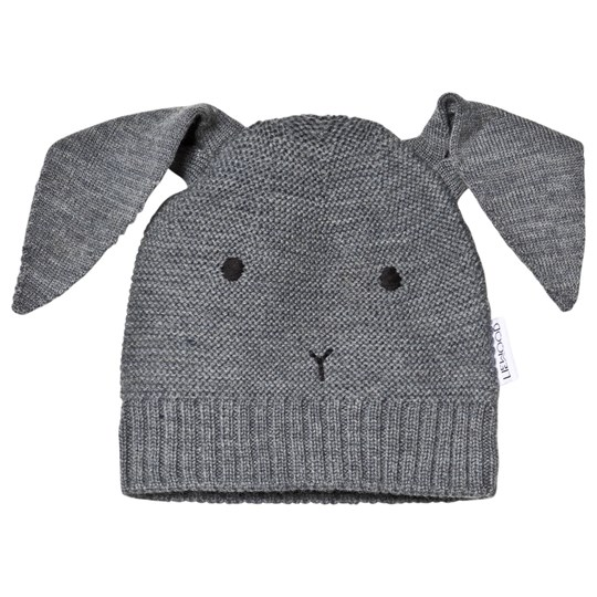Liewood Merino Viggo Rabbit Knit Hat Grey Melange 0035 Rabbit grey melange
