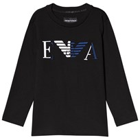 93226312500d Emporio Armani Black Embroidered Long Sleeve Tee 0999