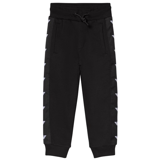 Emporio Armani Black Eagle Logo Trim Sweatpants 0999