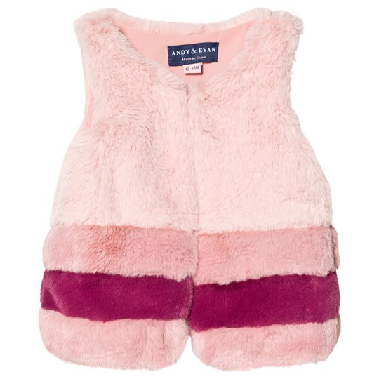 Andy & Evan Faux Fur Vest Rose Quartz PKM