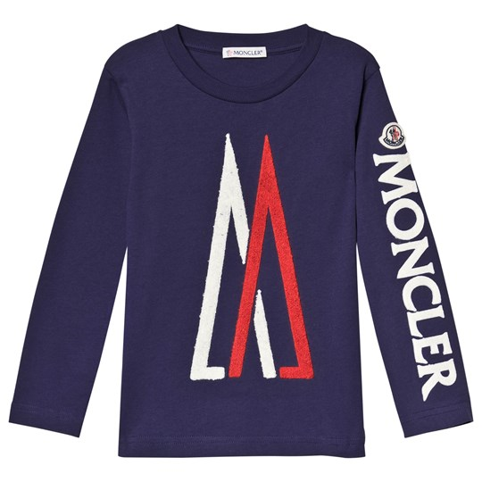 Moncler Navy Maglia Long Sleeve Tee 74H