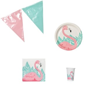 Image of Decorata Party Flamingo Party Pack 4 - 12 years (1180831)