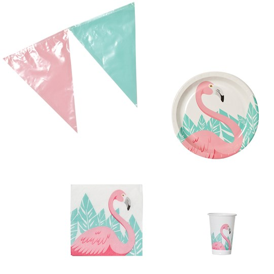Decorata Party Flamingo Party Paket Pink