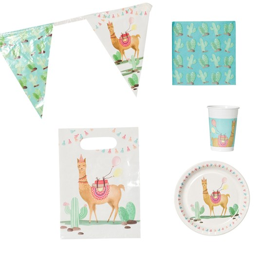 Decorata Party Llama Party Paket BROWN