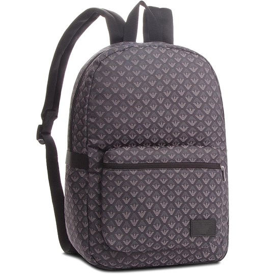 Emporio Armani Grey All Over Eagle Backpack 00020