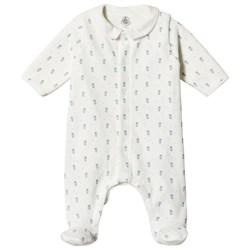 Petit Bateau Printed Footed Baby Body Off-White