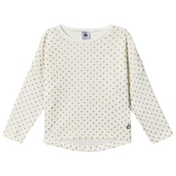 Petit Bateau LS T-Shirt Dotted Off-White/Gold
