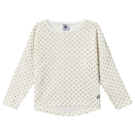 Petit Bateau LS T-Shirt Dotted Off-White/Gold Off-white/gold