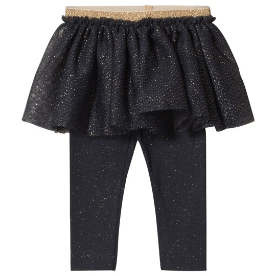 Petit Bateau Baby Leggings with Tulle Blue/Gold Blue/Gold