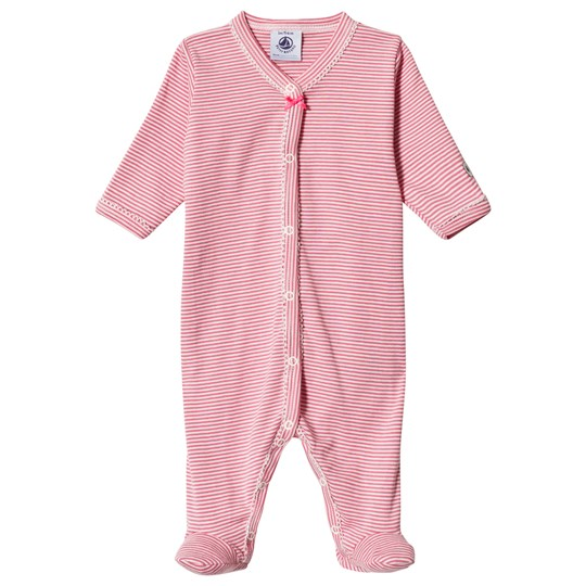 Petit Bateau Baby Body Pink/Off-White Pink/Off-White