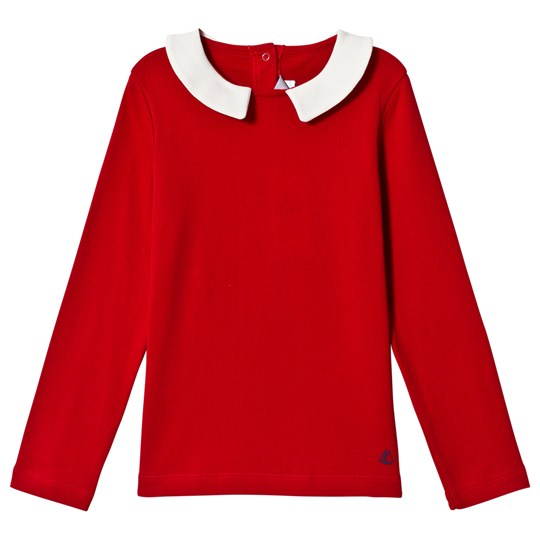 Petit Bateau Long Sleeve T-Shirt Red Red