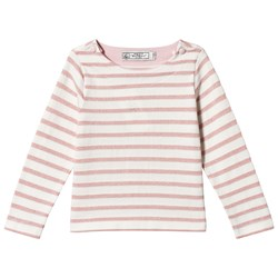 Petit Bateau Long Sleeve T-Shirt Off-White/Pink/Gold