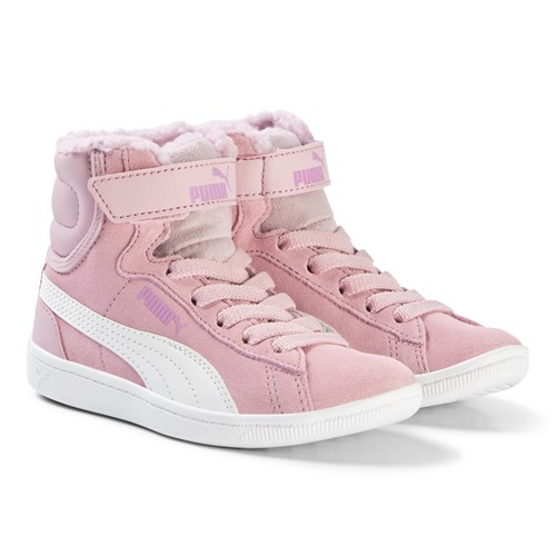 Puma - Pink Vikky High Top Sneakers
