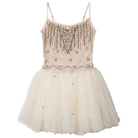 DOLLY by Le Petit Tom Enchanted Tutu Dress Beige/Off White Beige/Off-White