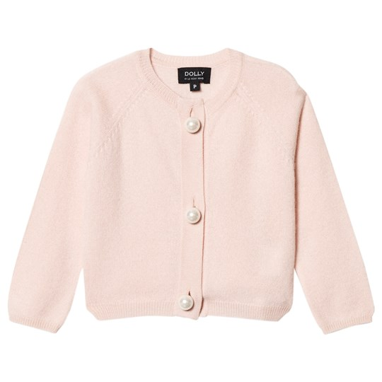DOLLY by Le Petit Tom Pearled Up Cashmere Cardigan Light Pink Light Pink