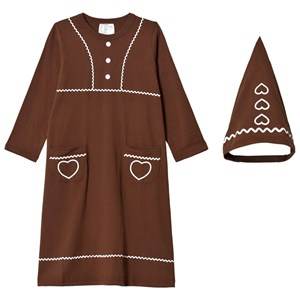 Image of Christmas Kids Gingerbread Costume Brown 110/116 cm (988269)