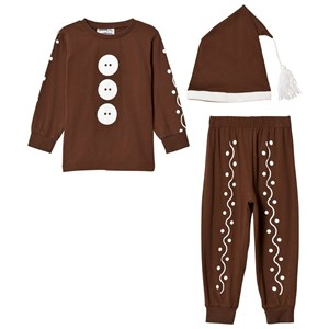 Image of Christmas Kids Gingerbread Costume Brown 110/116 cm (978408)