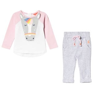 Image of Tom Joule Grey Horse Tee and Sweatpants Set 12-18 months (3125321207)