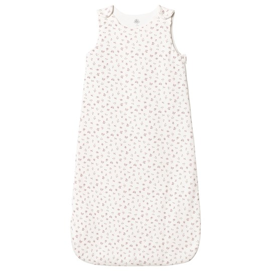 Petit Bateau Floral Baby Sleeping Bag Off White off-white