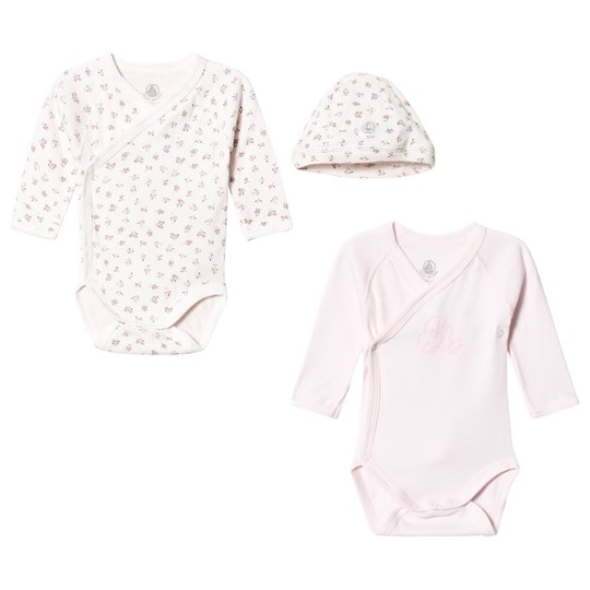 55aa87fd0fd Petit Bateau - Set of 2 Baby Bodies with Beanie - Babyshop.dk